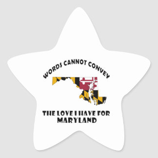 Maryland state flag and map designs star sticker