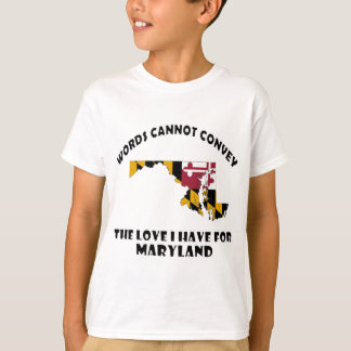 Maryland state flag and map designs T-Shirt