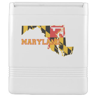 Maryland state Flag and Map Drink Cooler