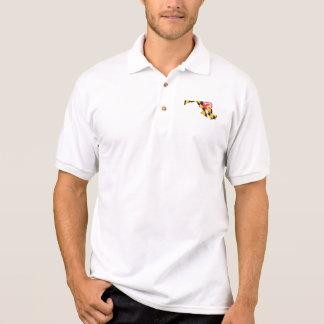Maryland state Flag and Map Polo Shirt