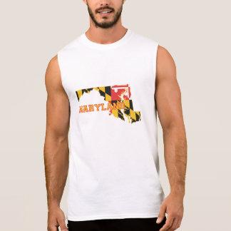 Maryland state Flag and Map Sleeveless Shirt
