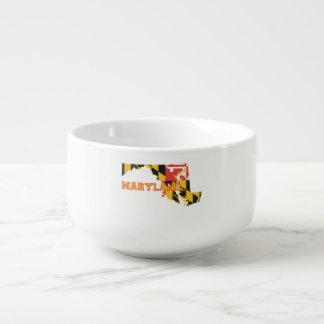 Maryland state Flag and Map Soup Mug