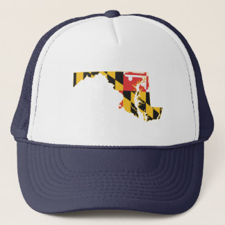 Maryland state Flag and Map Trucker Hat