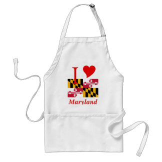 Maryland State Flag Adult Apron