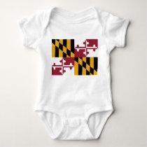 Maryland State Flag Baby Bodysuit