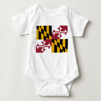 Maryland State Flag Baby Bodysuit