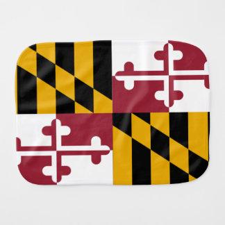 Maryland State Flag Baby Burp Cloth