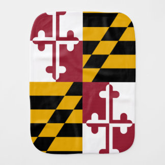 Maryland State Flag Burp Cloth