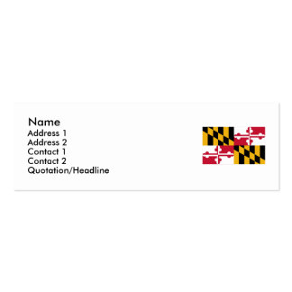 Maryland State Flag Double-Sided Mini Business Cards (Pack Of 20)