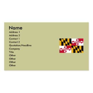 Maryland State Flag Double-Sided Standard Business Cards (Pack Of 100)