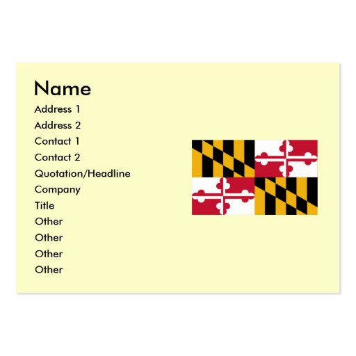 Maryland State Flag Business Card Templates