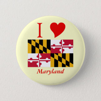 Maryland State Flag Button