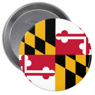 Maryland State Flag 4 Inch Round Button