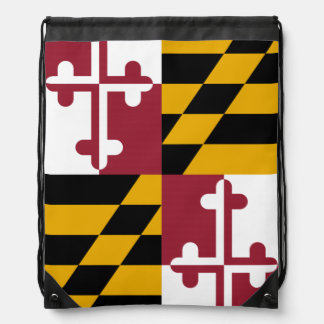 Maryland State Flag Cinch Bags