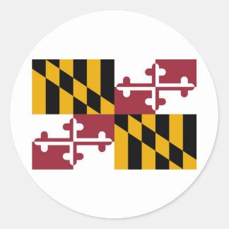 Maryland State Flag Classic Round Sticker