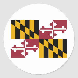 Maryland State Flag Classic Round Sticker