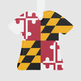 Maryland State Flag Colors Accent Ornament
