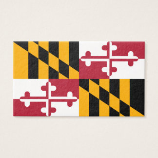 Maryland State Flag Colors Decor Business Card