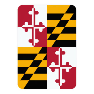 Maryland State Flag Colors Decor Card