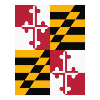 Maryland State Flag Colors Decor Flyer