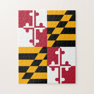 Maryland State Flag Colors Decor Jigsaw Puzzle