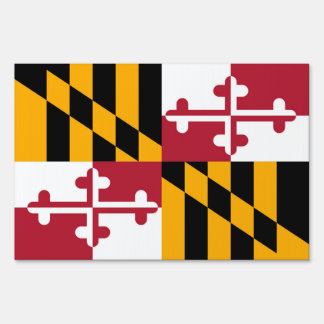Maryland State Flag Colors Decor Yard Sign