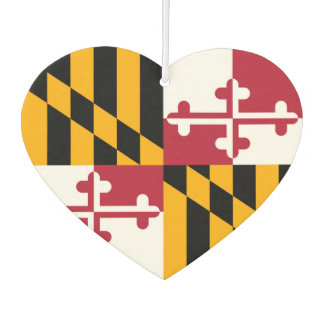 Maryland State Flag Colors Display Air Freshener