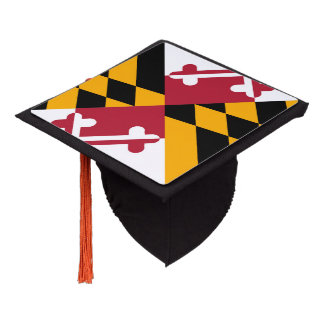 Maryland State Flag Colors Graduation Cap Topper