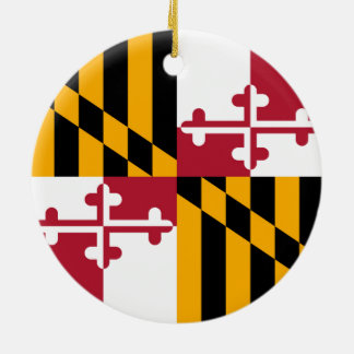 Maryland State Flag Colors Graphic Ceramic Ornament