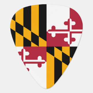 Maryland State Flag Colors Graphic Guitar Pick