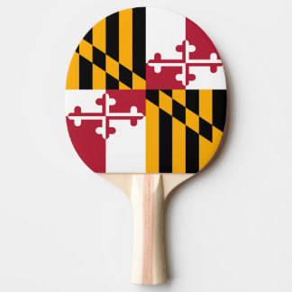 Maryland State Flag Colors Graphic Ping-Pong Paddle