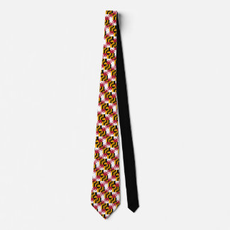 Maryland State Flag Colors Neck Tie