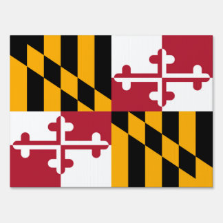 Maryland State Flag Colors Style Lawn Sign