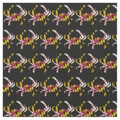 Maryland State Flag Crab Shape Fabric