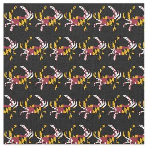 Maryland State Flag Crab Shape Fabric
