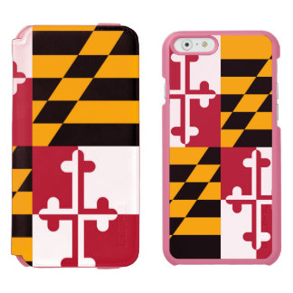 Maryland State Flag Custom Design iPhone 6/6s Wallet Case