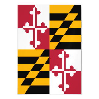 Maryland State Flag Custom Design Magnetic Card