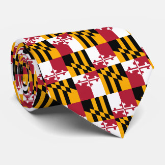 Maryland State Flag Design Accent Neck Tie