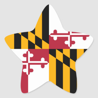 Maryland State Flag Design Accent Star Sticker