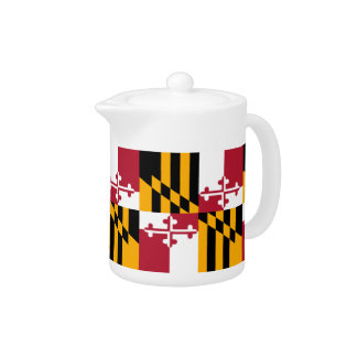 Maryland State Flag Design Accent Teapot