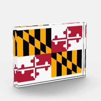 Maryland State Flag Design Acrylic Award