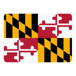 Maryland State Flag Design Card