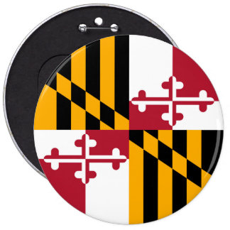 Maryland State Flag Design Decoration Button