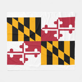 Maryland State Flag Design Fleece Blanket