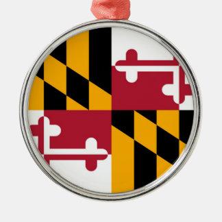 Maryland State Flag Design Metal Ornament