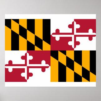 Maryland State Flag Design Poster