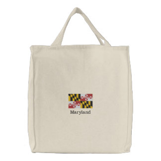 Maryland State Flag Embroidered Tote Bag