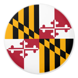 Maryland State Flag Festive Design Ceramic Knob