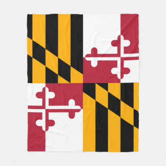 Maryland State Flag Festive Design Fleece Blanket
