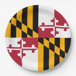 Maryland State Flag Festive Design Paper Plate